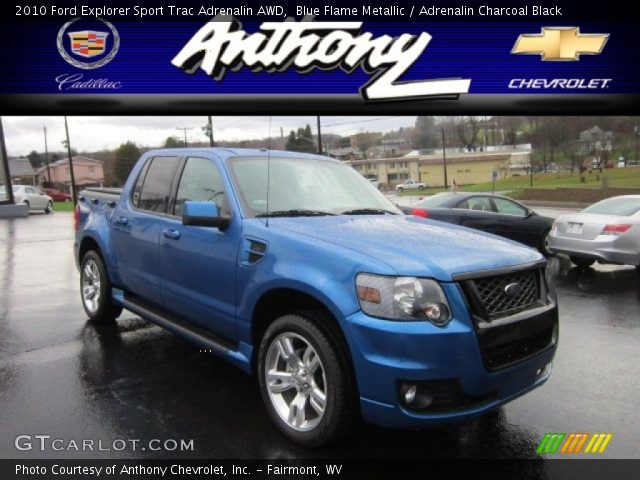Blue Flame Metallic 2010 Ford Explorer Sport Trac Adrenalin AWD with