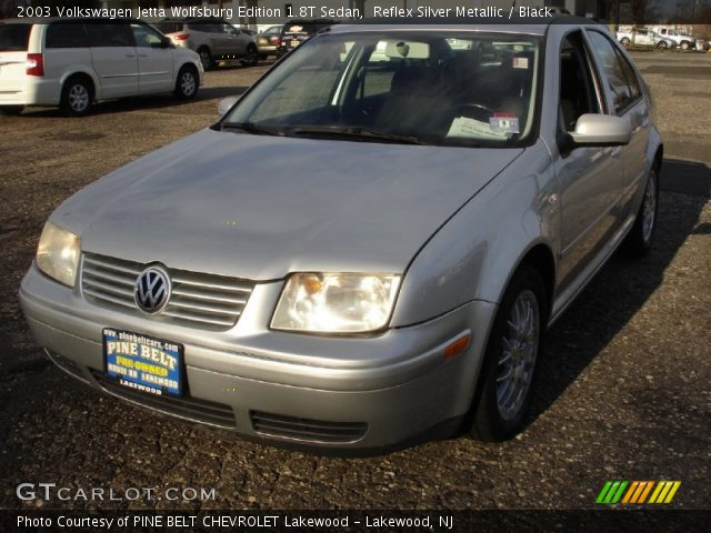 reflex silver metallic 2003 volkswagen jetta wolfsburg edition 1 8t sedan black interior. Black Bedroom Furniture Sets. Home Design Ideas