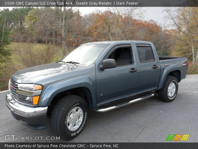 stealth gray metallic 2006 gmc canyon sle crew cab 4x4 dark pewter interior. Black Bedroom Furniture Sets. Home Design Ideas