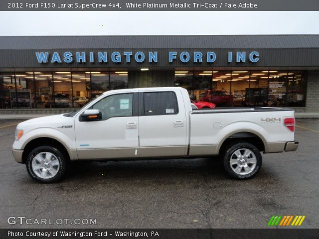 2012 Ford F150 Lariat SuperCrew 4x4 in White Platinum Metallic Tri-Coat