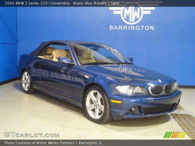 2006 BMW 3 Series 325i Convertible in Mystic Blue Metallic