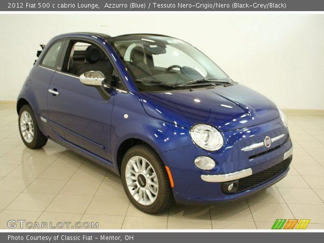 2012 Fiat 500 c cabrio Lounge in Azzurro (Blue)
