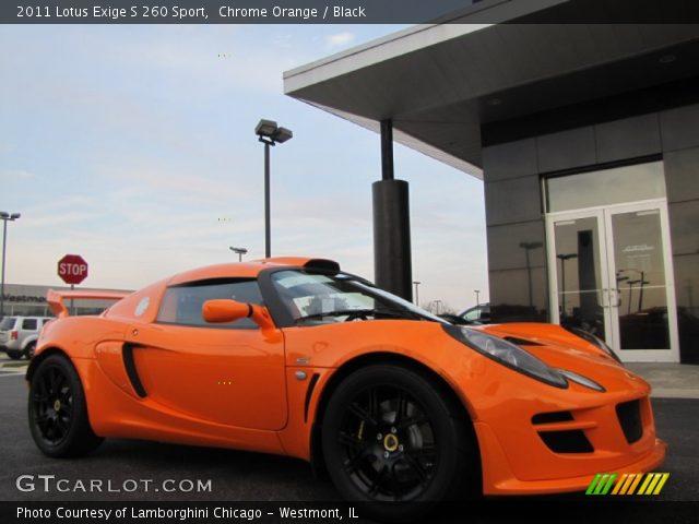 chrome orange 2011 lotus exige s 260 sport black. Black Bedroom Furniture Sets. Home Design Ideas