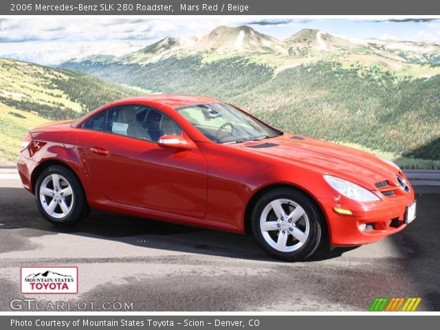 mars red 2006 mercedes benz slk 280 roadster beige interior vehicle archive. Black Bedroom Furniture Sets. Home Design Ideas