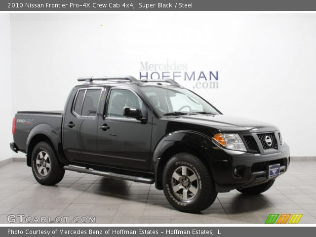 super black 2010 nissan frontier pro 4x crew cab 4x4 steel interior vehicle. Black Bedroom Furniture Sets. Home Design Ideas