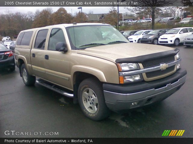 sandstone metallic 2005 chevrolet silverado 1500 lt crew cab 4x4 tan interior. Black Bedroom Furniture Sets. Home Design Ideas