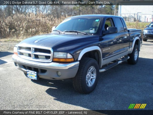 patriot blue pearl 2001 dodge dakota slt quad cab 4x4. Black Bedroom Furniture Sets. Home Design Ideas