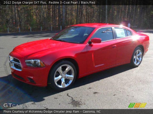 redline 3 coat pearl 2012 dodge charger sxt plus black red interior vehicle. Black Bedroom Furniture Sets. Home Design Ideas