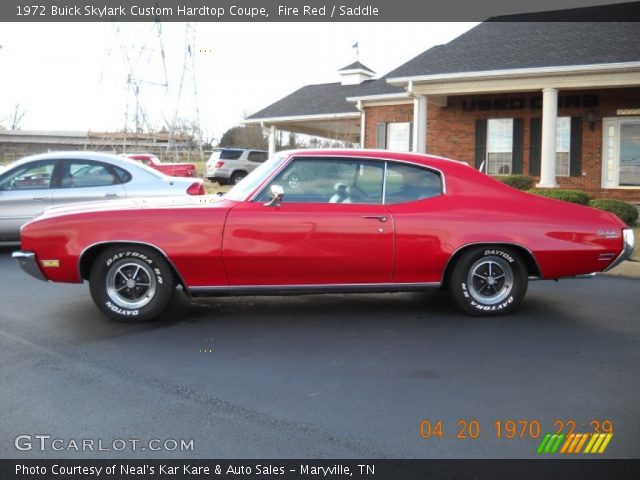 1972 Buick Skylark Custom Hardtop Coupe in Fire Red