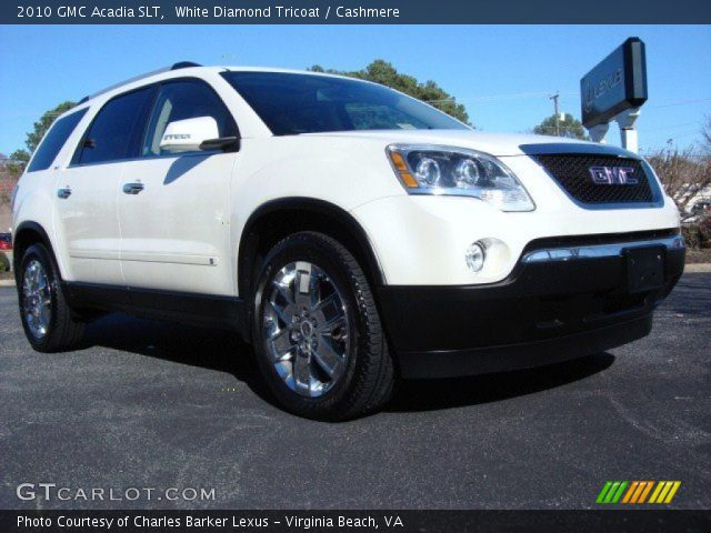 2010 GMC Acadia SLT in White Diamond Tricoat