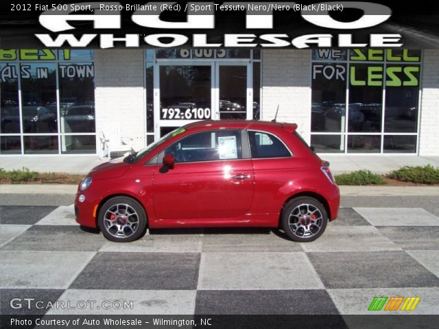 2012 Fiat 500 Sport in Rosso Brillante (Red)