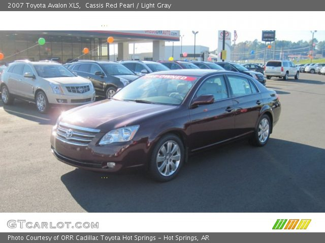 cassis red pearl 2007 toyota avalon xls light gray. Black Bedroom Furniture Sets. Home Design Ideas