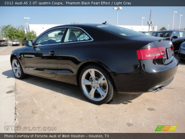 Phantom Black Pearl Effect 2012 Audi A5 2.0T quattro Coupe with Light