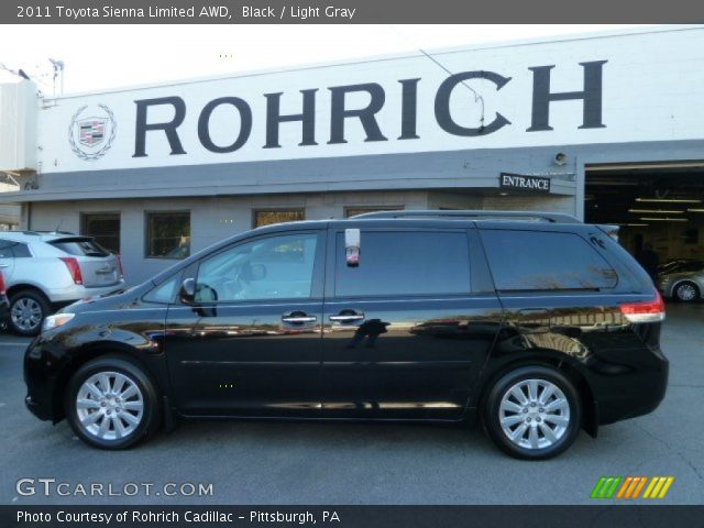 2011 Toyota Sienna Limited AWD in Black. Click to see large photo.