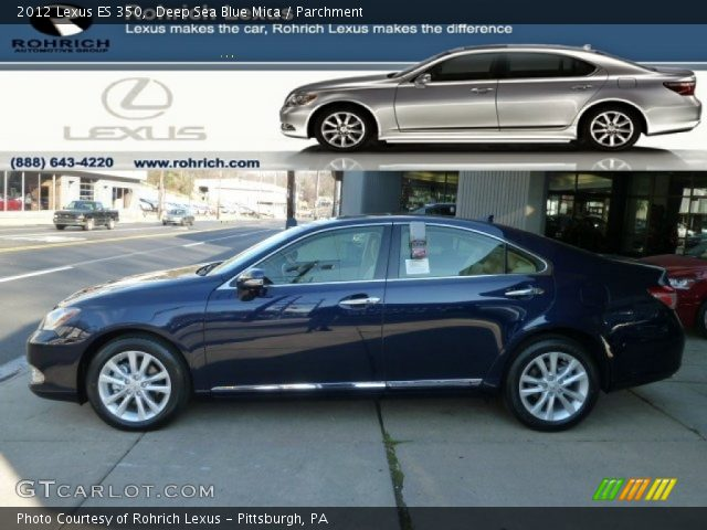 2012 Lexus ES 350 in Deep Sea Blue Mica
