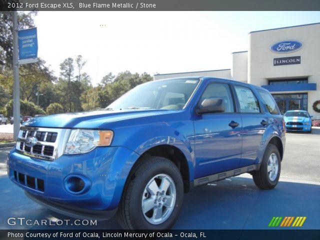blue flame metallic 2012 ford escape xls stone interior vehicle archive. Black Bedroom Furniture Sets. Home Design Ideas