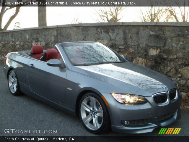 Space Gray Metallic 2007 Bmw 3 Series 335i Convertible Coral Red Black Interior Gtcarlot