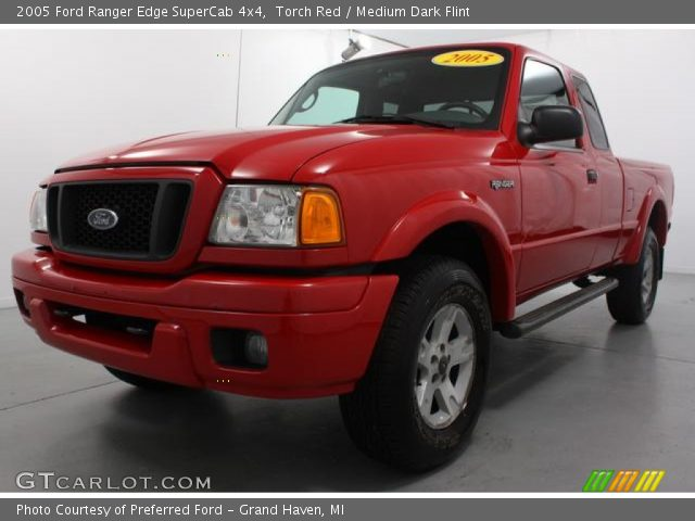 torch red 2005 ford ranger edge supercab 4x4 medium dark flint interior. Black Bedroom Furniture Sets. Home Design Ideas