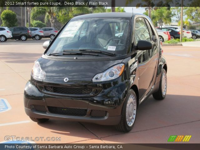 2012 Smart fortwo pure coupe in Deep Black