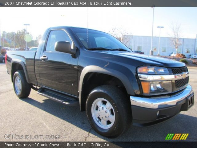 black 2007 chevrolet colorado lt regular cab 4x4 light cashmere interior. Black Bedroom Furniture Sets. Home Design Ideas