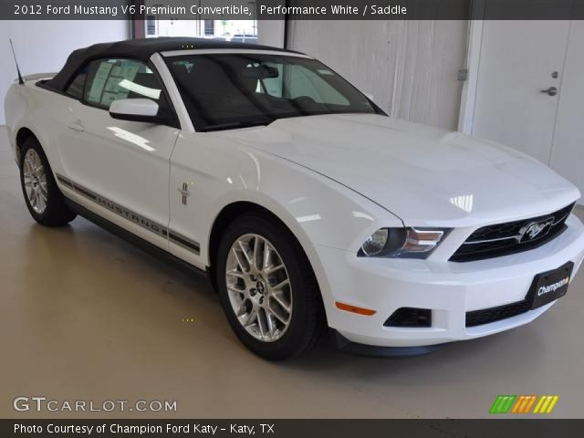 performance white 2012 ford mustang v6 premium convertible saddle interior. Black Bedroom Furniture Sets. Home Design Ideas