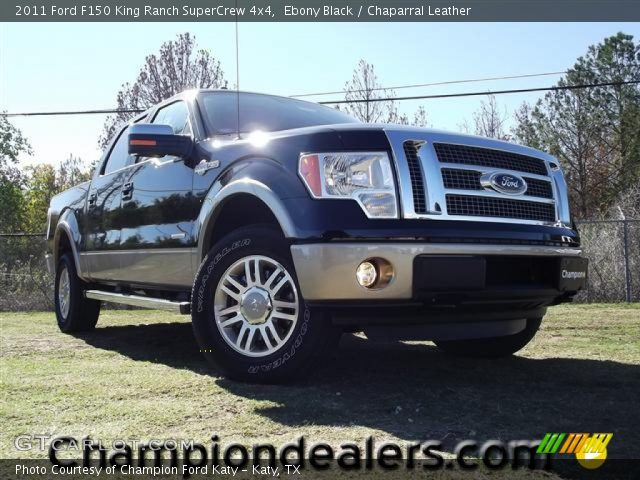 2011 Ford F150 King Ranch SuperCrew 4x4 in Ebony Black