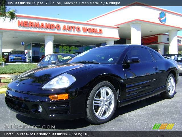 machine green metallic 2005 mitsubishi eclipse gt coupe. Black Bedroom Furniture Sets. Home Design Ideas