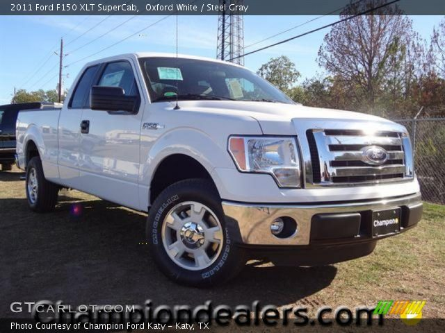 oxford white 2011 ford f150 xlt supercab steel gray interior vehicle. Black Bedroom Furniture Sets. Home Design Ideas