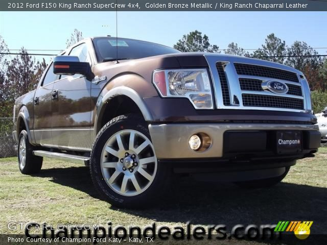 2012 Ford F150 King Ranch SuperCrew 4x4 in Golden Bronze Metallic