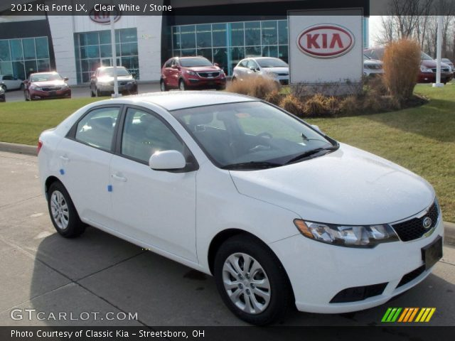 2012 Kia Forte LX in Clear White