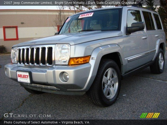 bright silver metallic 2007 jeep commander limited. Black Bedroom Furniture Sets. Home Design Ideas