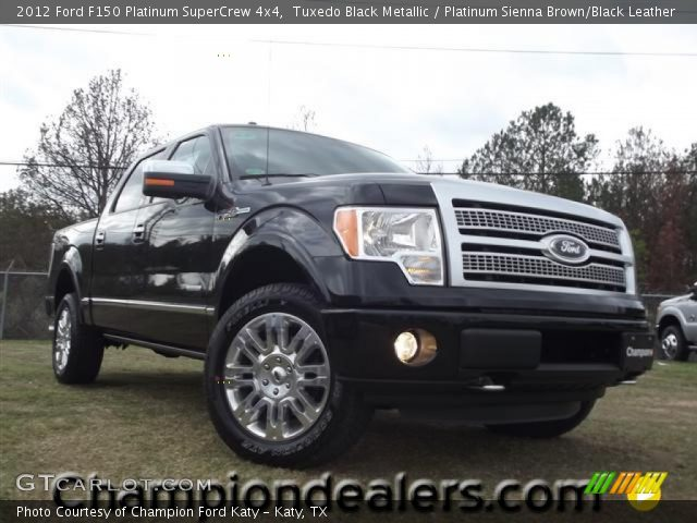 2012 Ford F150 Platinum SuperCrew 4x4 in Tuxedo Black Metallic