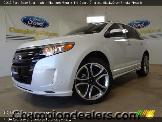 2012 Ford Edge Sport in White Platinum Metallic Tri-Coat