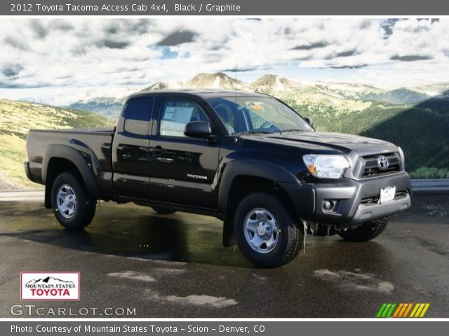 black 2012 toyota tacoma access cab 4x4 graphite interior vehicle archive. Black Bedroom Furniture Sets. Home Design Ideas