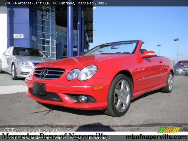 Mars red 2006 mercedes benz clk 500 cabriolet black for 2006 mercedes benz clk 500