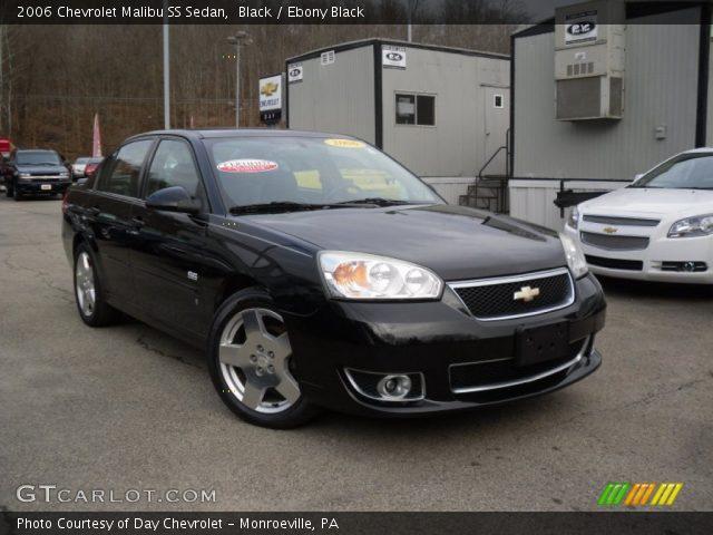 Black 2006 Chevrolet Malibu Ss Sedan Ebony Black Interior