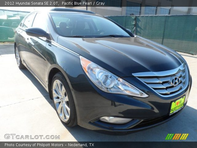 pacific blue pearl 2012 hyundai sonata se 2 0t gray interior vehicle. Black Bedroom Furniture Sets. Home Design Ideas