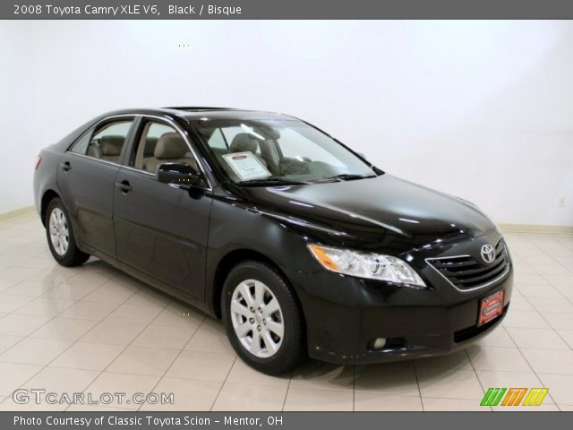 black 2008 toyota camry xle v6 bisque interior vehicle archive 57447314. Black Bedroom Furniture Sets. Home Design Ideas