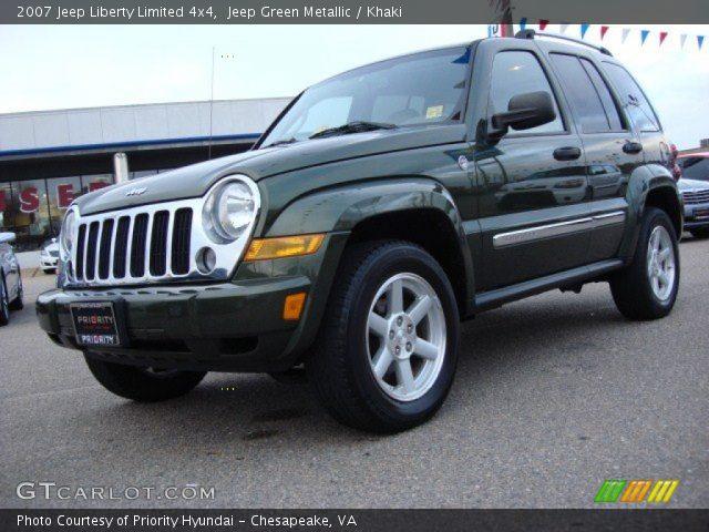 jeep green metallic 2007 jeep liberty limited 4x4 khaki interior vehicle. Black Bedroom Furniture Sets. Home Design Ideas