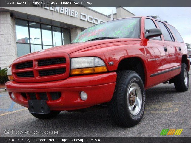 flame red 1998 dodge durango slt 4x4 gray interior. Black Bedroom Furniture Sets. Home Design Ideas