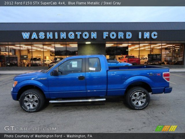 2012 Ford F150 STX SuperCab 4x4 in Blue Flame Metallic