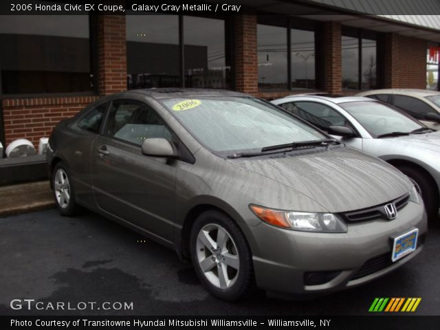 galaxy gray metallic 2006 honda civic ex coupe gray interior vehicle. Black Bedroom Furniture Sets. Home Design Ideas