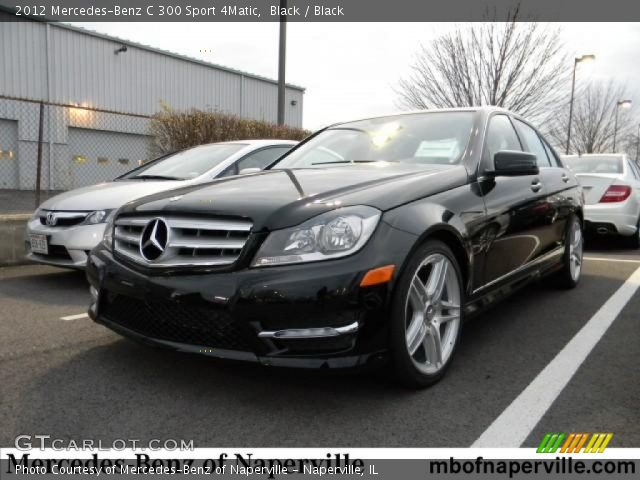 black 2012 mercedes benz c 300 sport 4matic black interior vehicle archive. Black Bedroom Furniture Sets. Home Design Ideas