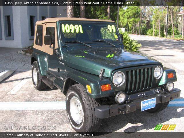 Forest Green Pearlcoat - 1999 Jeep Wrangler Sahara 4x4 ...