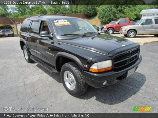 black 1998 dodge durango slt 4x4 beige interior. Black Bedroom Furniture Sets. Home Design Ideas