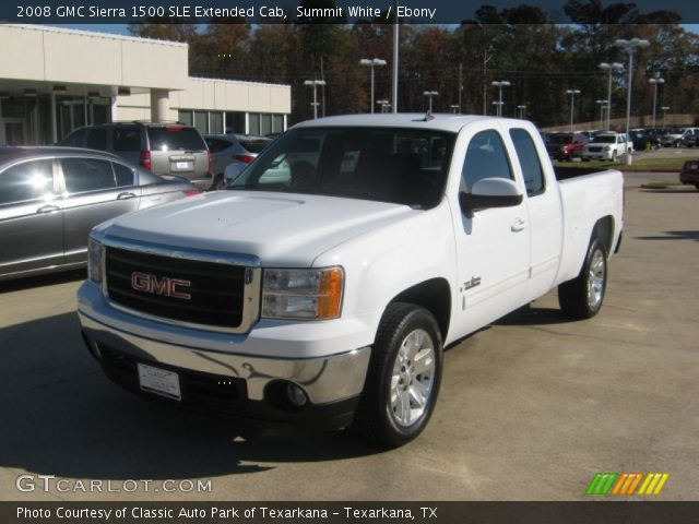 summit white 2008 gmc sierra 1500 sle extended cab. Black Bedroom Furniture Sets. Home Design Ideas