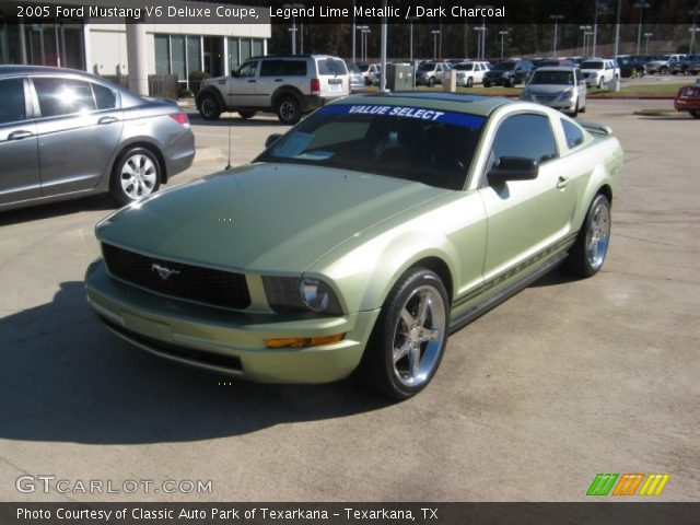 2007 Ford Mustang V6 Deluxe >> Legend Lime Metallic - 2005 Ford Mustang V6 Deluxe Coupe - Dark Charcoal Interior | GTCarLot.com ...