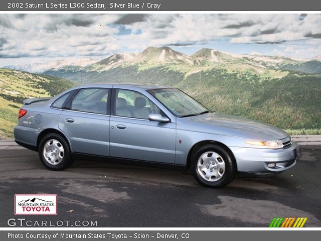 silver blue 2002 saturn l series l300 sedan gray interior vehicle archive. Black Bedroom Furniture Sets. Home Design Ideas