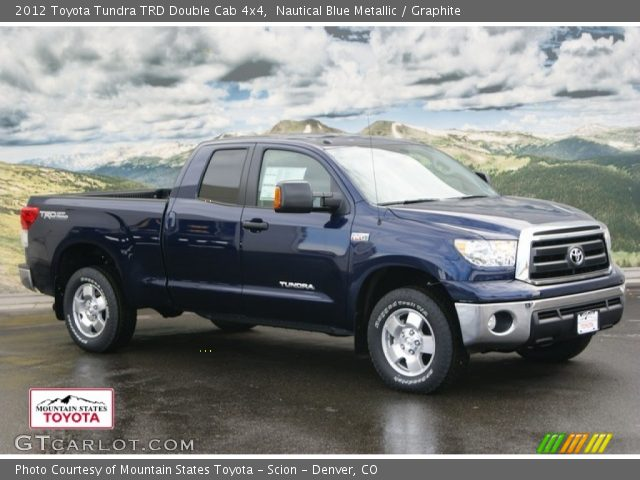 nautical blue metallic 2012 toyota tundra trd double cab 4x4 graphite interior gtcarlot. Black Bedroom Furniture Sets. Home Design Ideas
