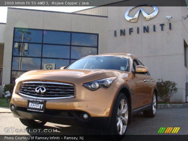Mojave Copper 2009 Infiniti Fx 50 Awd S Java Interior Gtcarlot